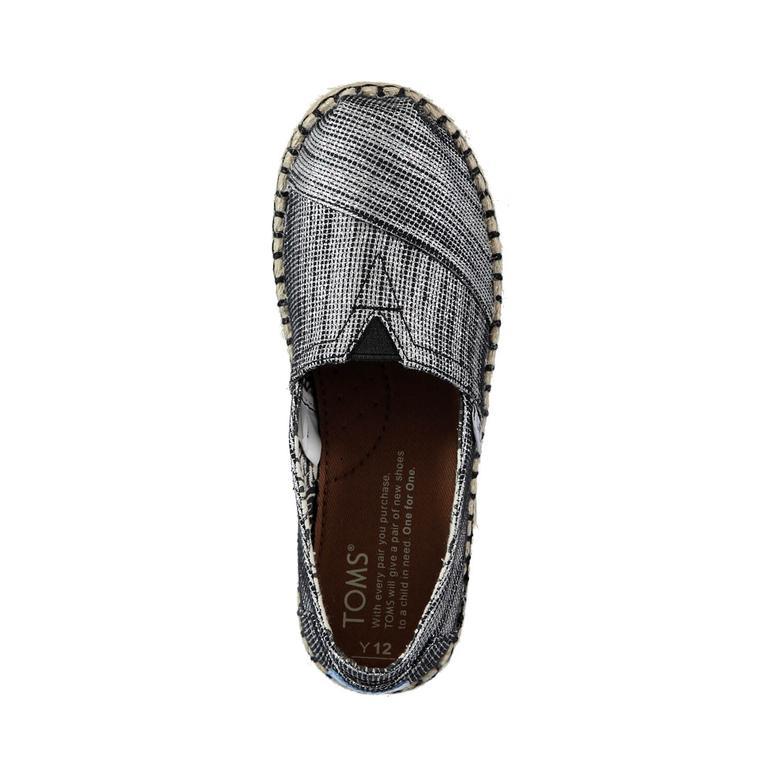 Platform Alpargata Siyah Çocuk Ayakkabı