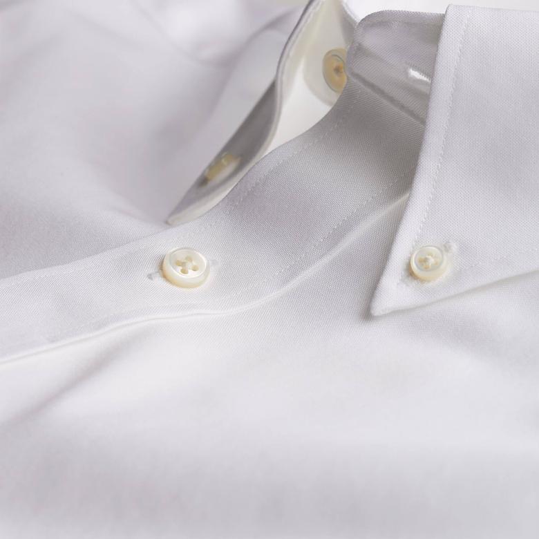 Gant Erkek Beyaz Uzun Kollu Regular Fit Gömlek