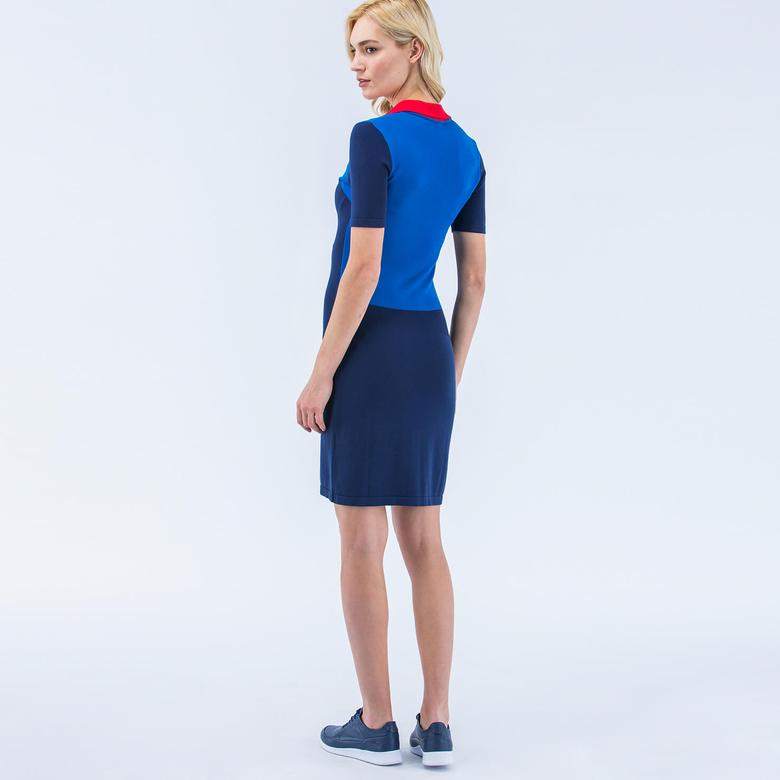 Lacoste Mavi Düz Kadın Elbise
