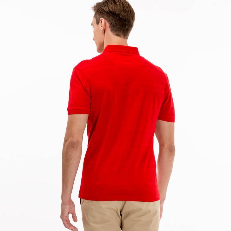 Lacoste Erkek Kırmızı Slim Fit Polo