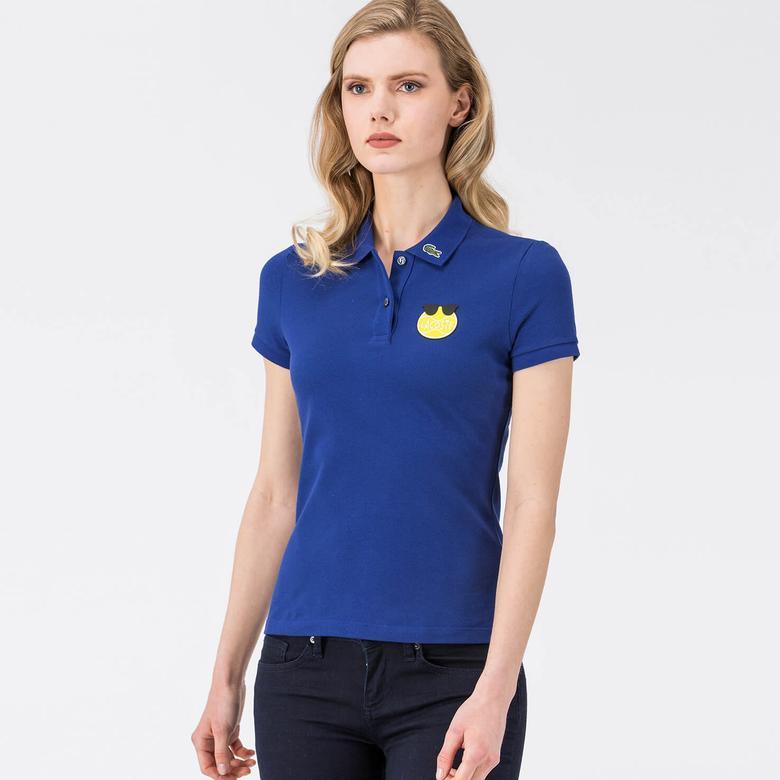 Lacoste Yazbükey Mavi Kadın Polo Tshirt