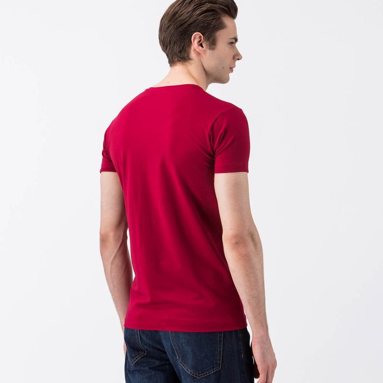 Lacoste Erkek Kısa Kollu Bordo T-Shirt