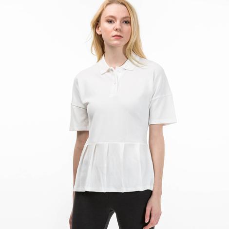 Lacoste Kadın Beyaz Kısa Kollu Polo