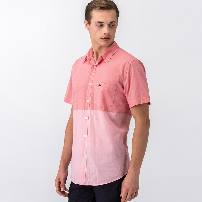 Lacoste Erkek Pembe Uzun Kollu Gömlek