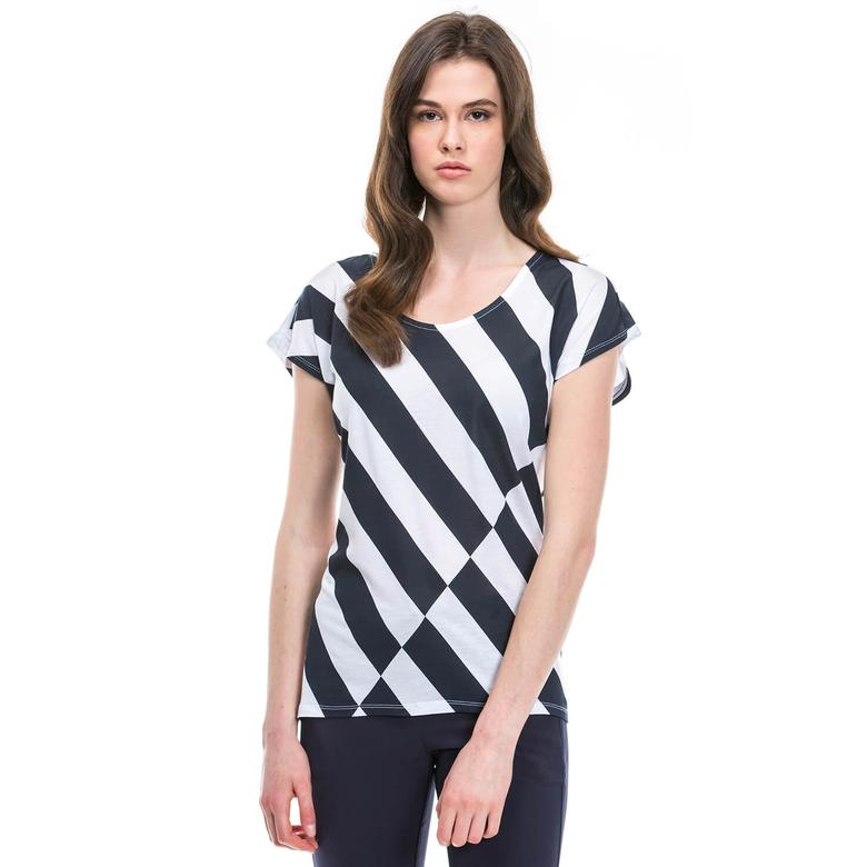 Nautica Kadın Lacivert Tshirt