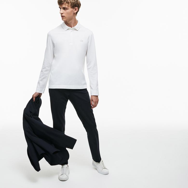 Lacoste Erkek Beyaz Regular Fit Uzun Kollu Polo