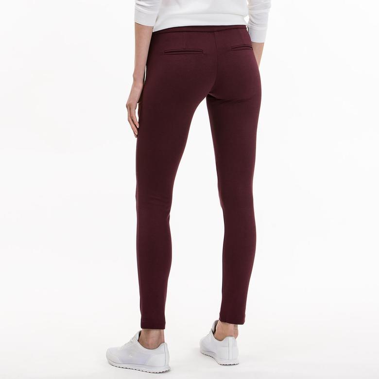 Lacoste Bordo Kadın Pantolon