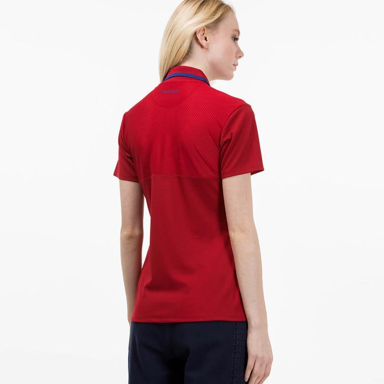 Lacoste Kadın Kırmızı Polo T-shirt