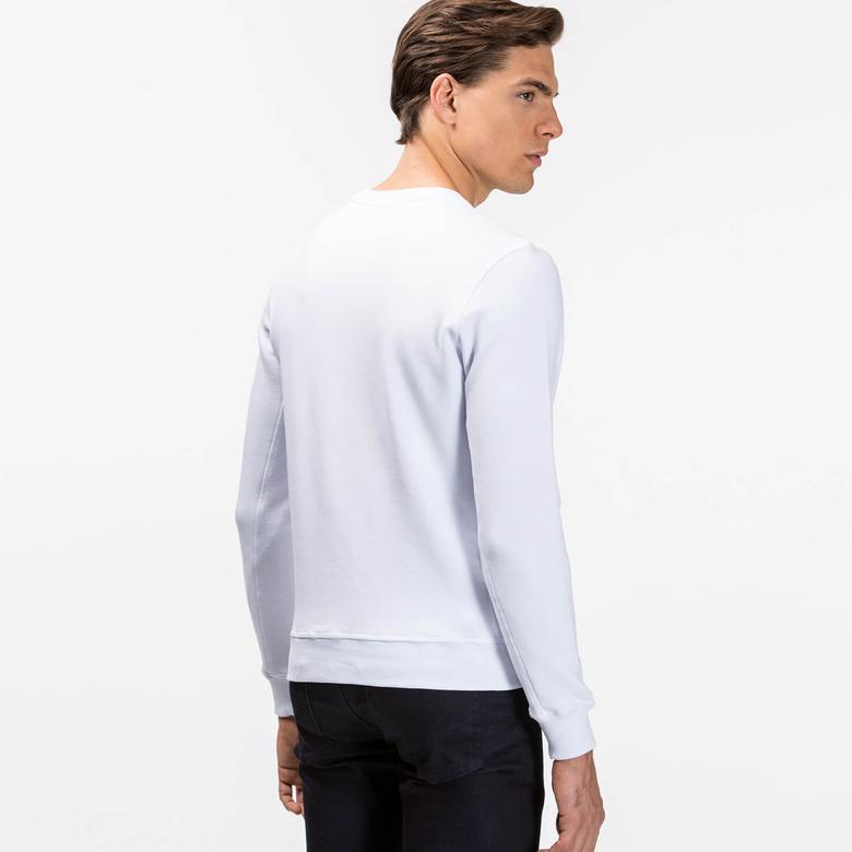 Lacoste Erkek Beyaz Sweatshirt