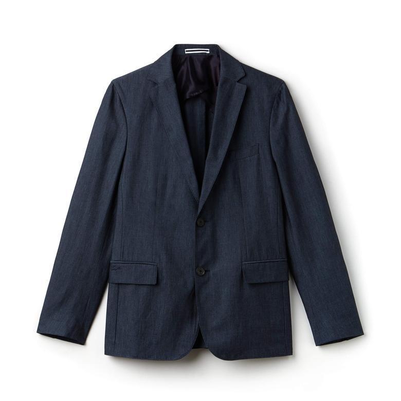 Lacoste Erkek Slim Fit Mavi Ceket