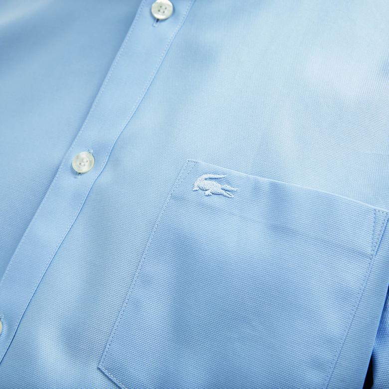 Lacoste Erkek Klasik Fit Mavi Gömlek