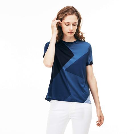 Lacoste Kadın Mavi Arkası Açık T-Shirt