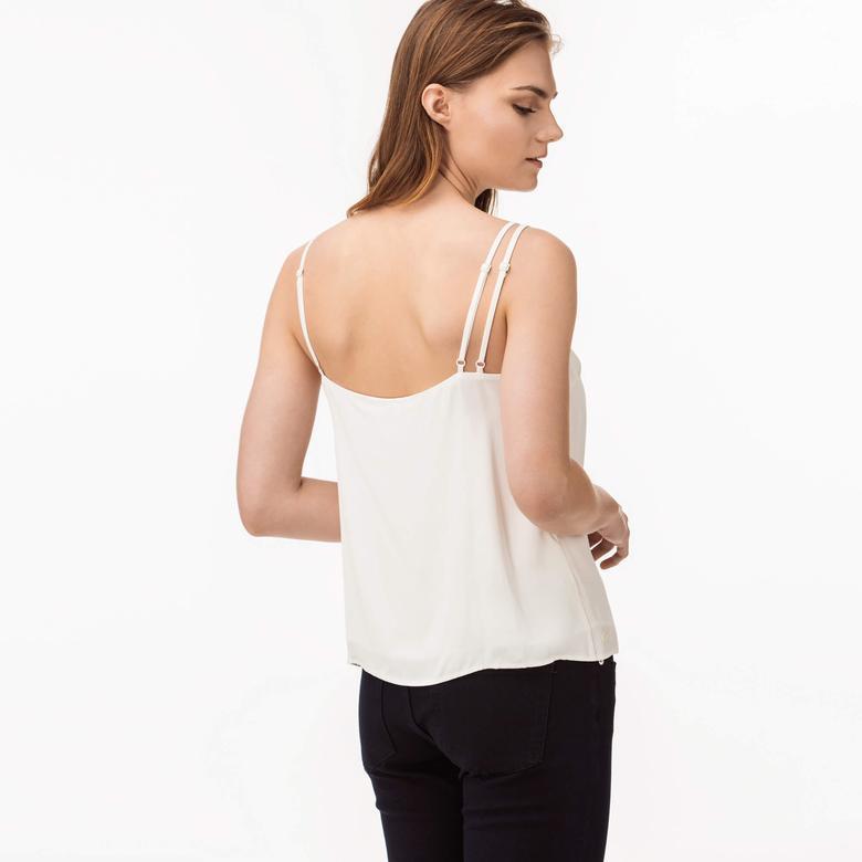 Lacoste Kadın Beyaz Askılı Bluz