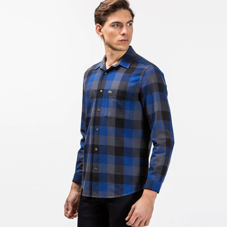 Lacoste Erkek Lacivert Uzun Kollu Gömlek