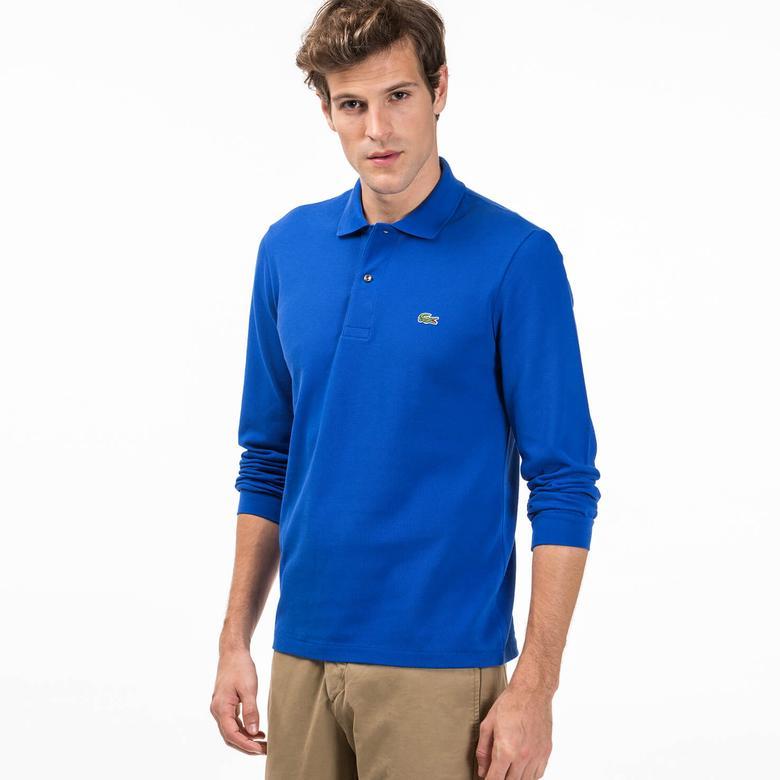 Lacoste Erkek Mavi Klasik Fit Polo