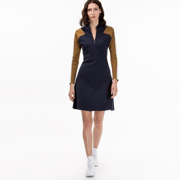 Lacoste Kadın Slim Fit Lacivert Elbise