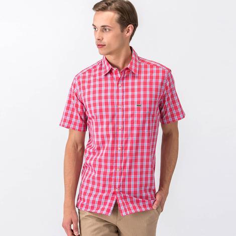 Lacoste Erkek Kırmızı Regular Fit Kısa Kollu Gömlek