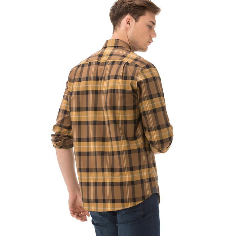 Lacoste Erkek Kahverengi Uzun Kollu Gömlek