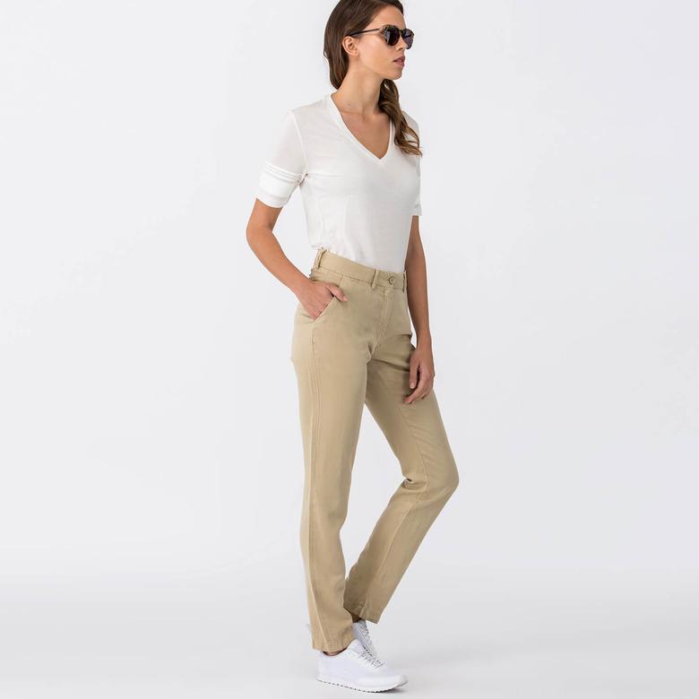 Lacoste Kadın Bej Pantolon