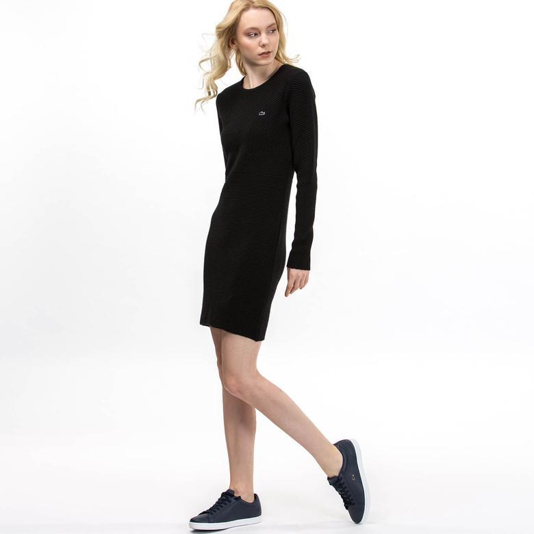 Lacoste Kadın Slim Fit Siyah Elbise