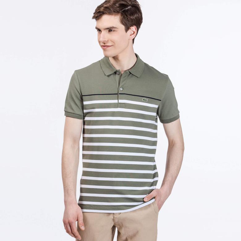 Lacoste Erkek Yeşil Slim Fit Kısa Kollu Polo