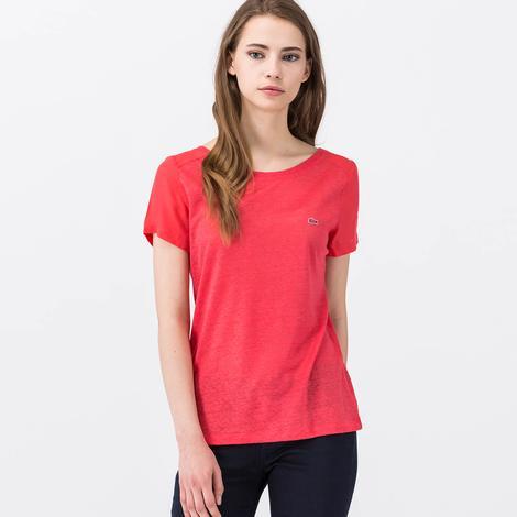 Lacoste Pembe Kısa Kollu Kadın Tshirt