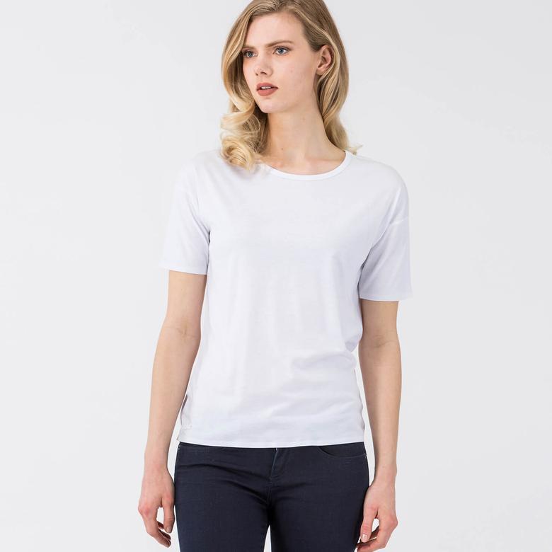 Lacoste Kadın Beyaz Kısa Kollu T-Shirt