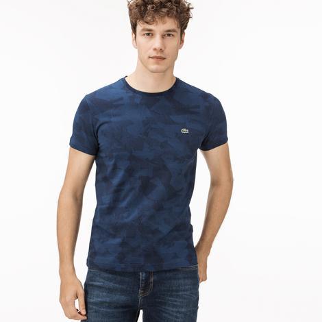 Lacoste Erkek Kamuflaj Saks T-Shirt