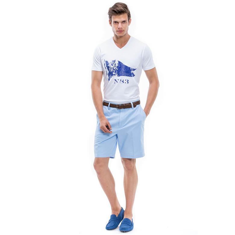 Nautica Erkek Mavi Regular Fit Şort