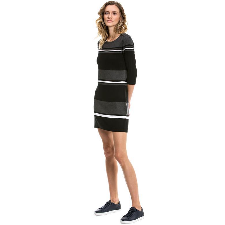 Nautica Kadın Siyah Regular Fit Elbise