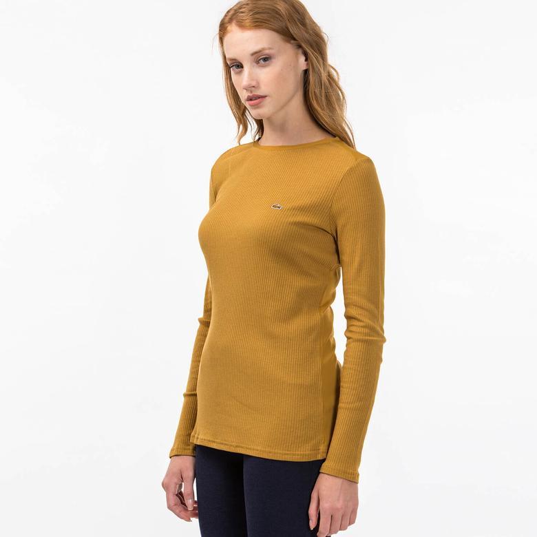 Lacoste Kadın Kahverengi Uzun Kollu T-Shirt