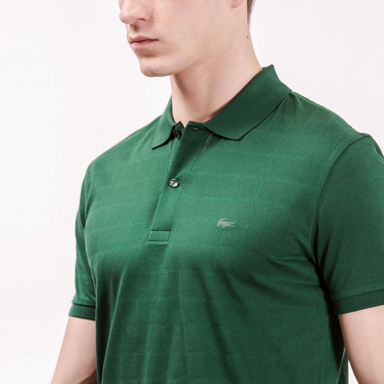 Lacoste Erkek Yeşil Regular Fit Kısa Kollu Polo