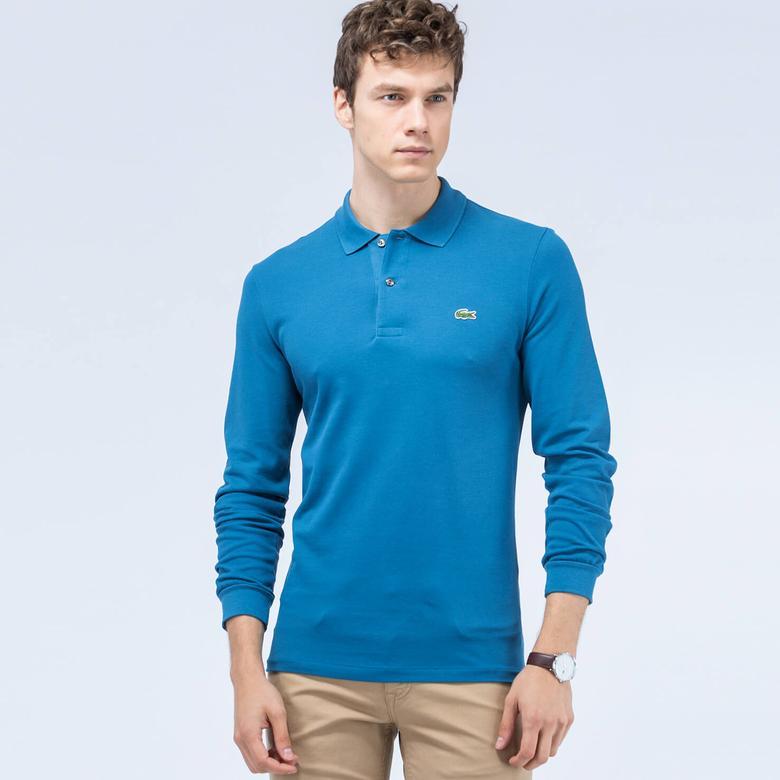 Lacoste Erkek Uzun Kollu Mavi Klasik Fit Polo