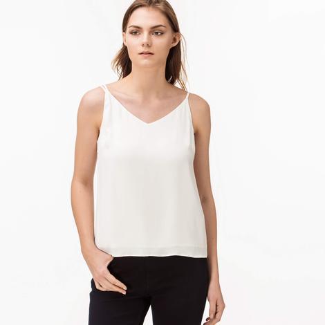 Lacoste Kadın Krem Askılı Bluz