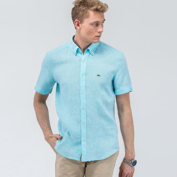 Lacoste Erkek Regular Mavi Gömlek