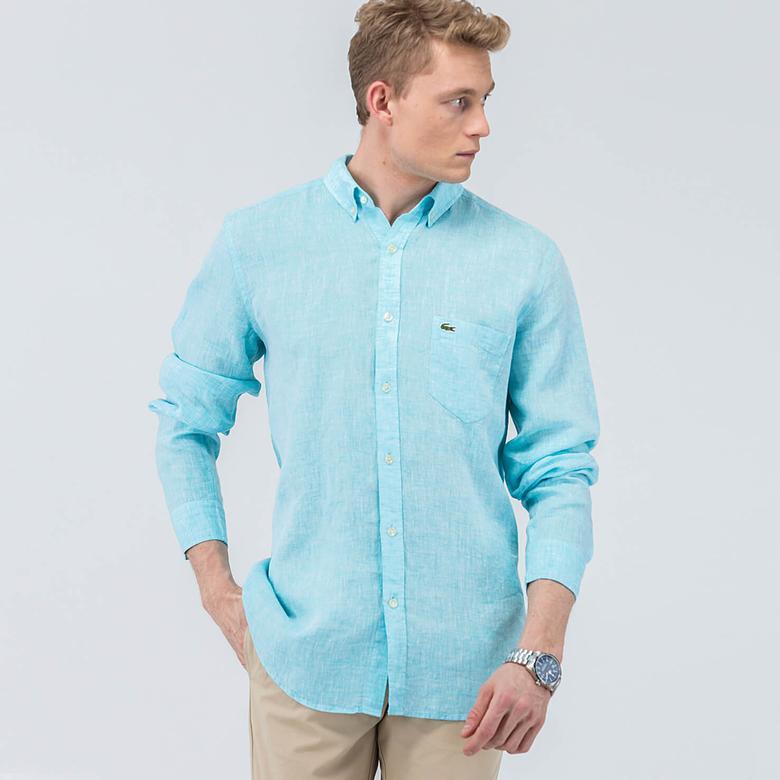 Lacoste Erkek Mavi Regular Gömlek