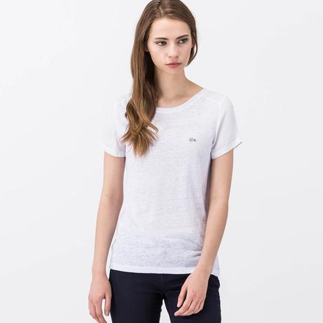 Lacoste Beyaz Kısa Kollu Kadın Tshirt