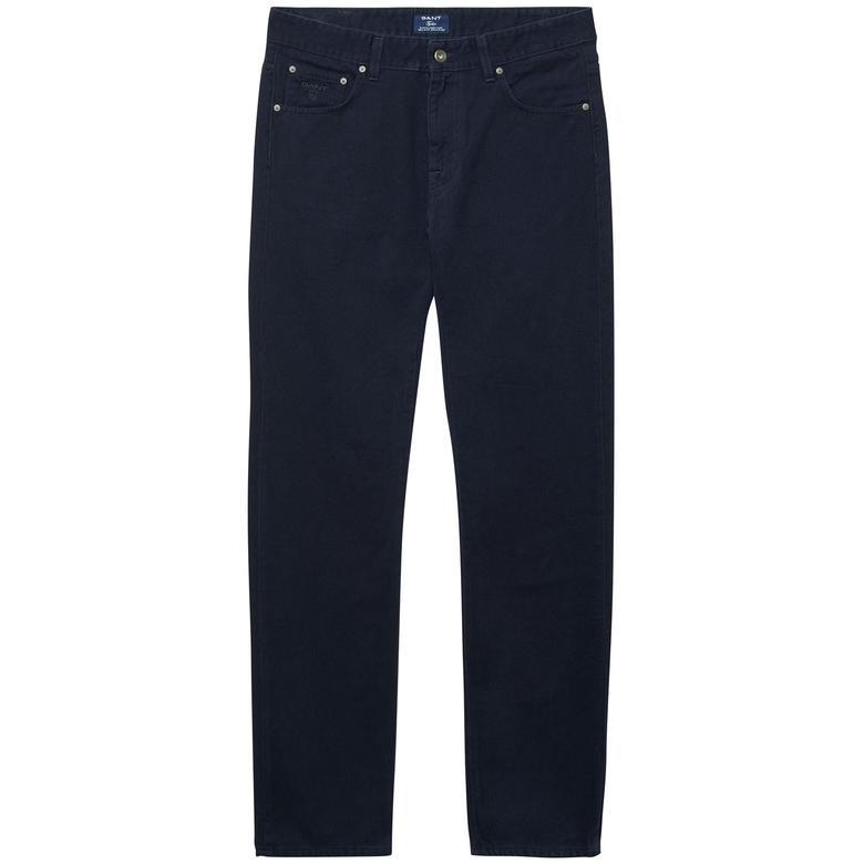 Gant Erkek Lacivert Regular Fit Jean Pantolon
