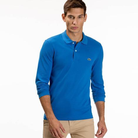 Lacoste Erkek Mavi Regular Fit Uzun Kollu Polo