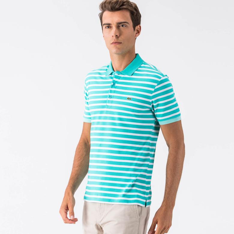 Lacoste Mavi Kısa Kollu Erkek Slim Fit Polo
