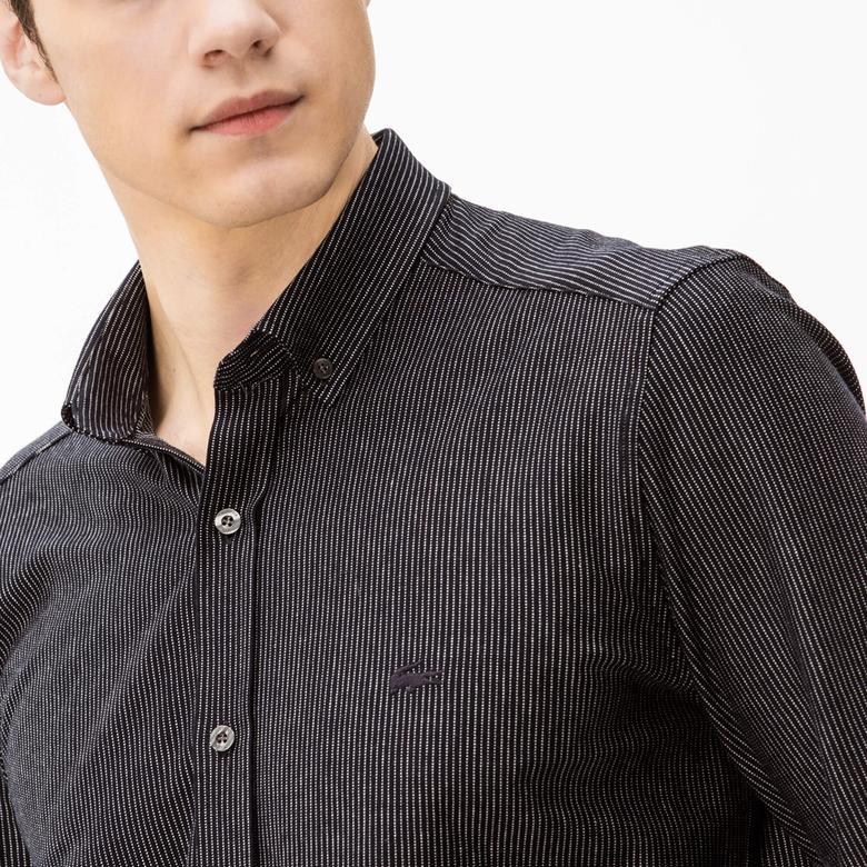 Lacoste Erkek Lacivert Slim Fit Gömlek