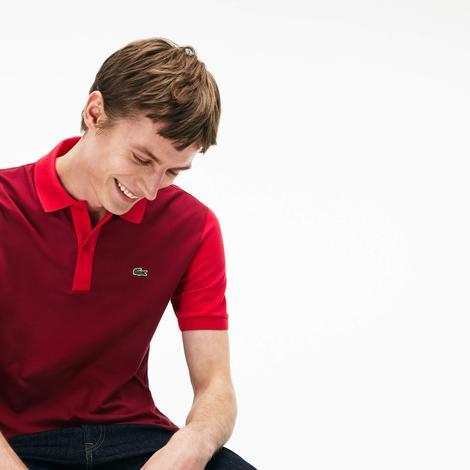 Lacoste Erkek Kırmızı Slim Fit Kısa Kollu Polo