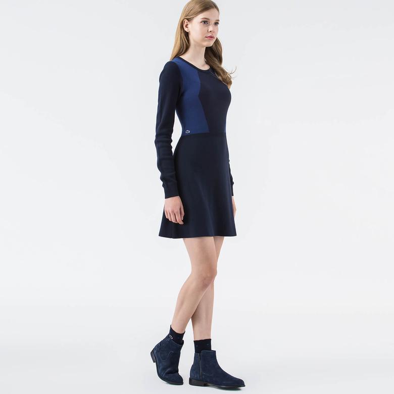 Lacoste Live Lacivert Uzun Kollu Elbise