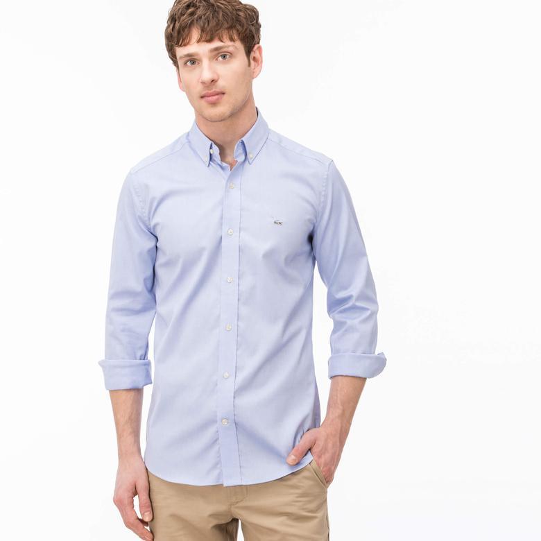 Lacoste Erkek Mavi Slim Gömlek