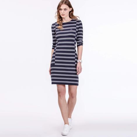 Lacoste Kadın Lacivert Regular Fit Elbise