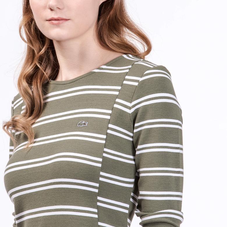 Lacoste Kadın Regular Fit Yeşil Elbise