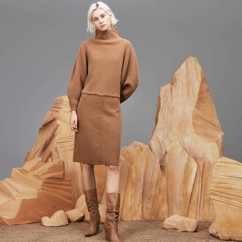 Lacoste Kadın Kahverengi Elbise