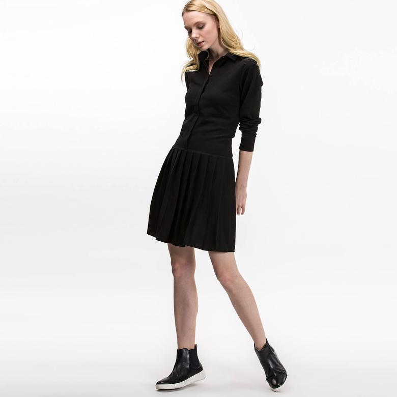 Lacoste Kadın Regular Fit Siyah Elbise