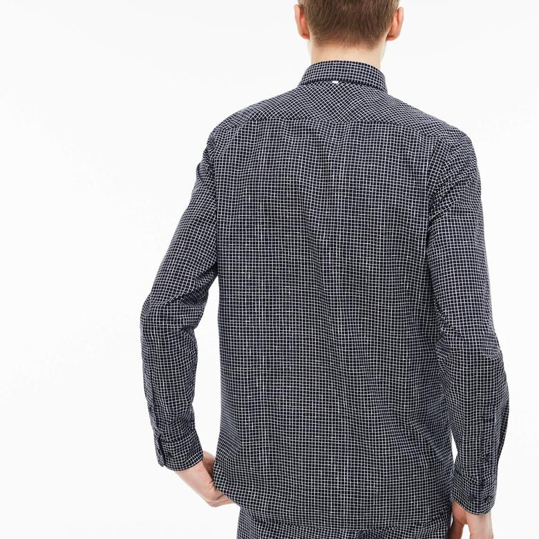 Lacoste Erkek Lacivert Slim Fit Uzun Kollu Gömlek