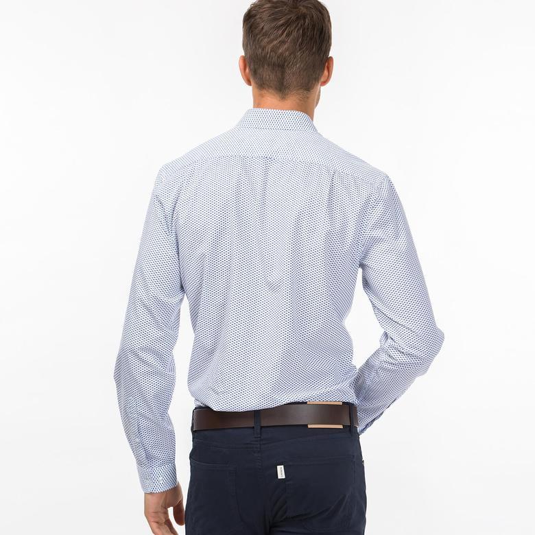 Lacoste Erkek Beyaz Slim Fit Uzun Kollu Gömlek